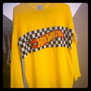 Yellow vintage hot wheels sweater